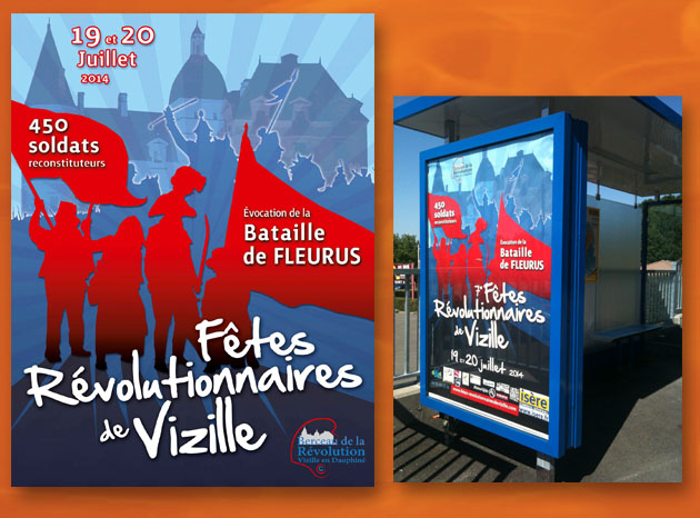 Affiche sur les fêtes révolutionnaires de Vizille