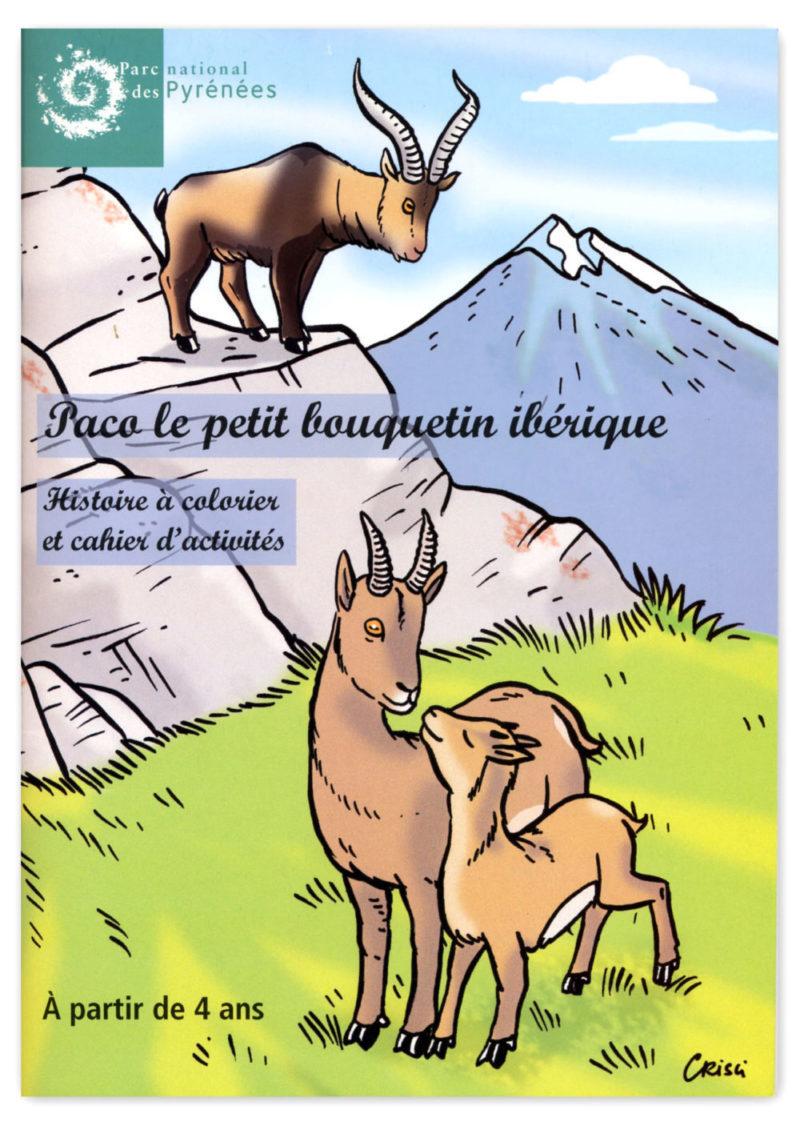 Cahier de coloriage parc national des Pyrénées