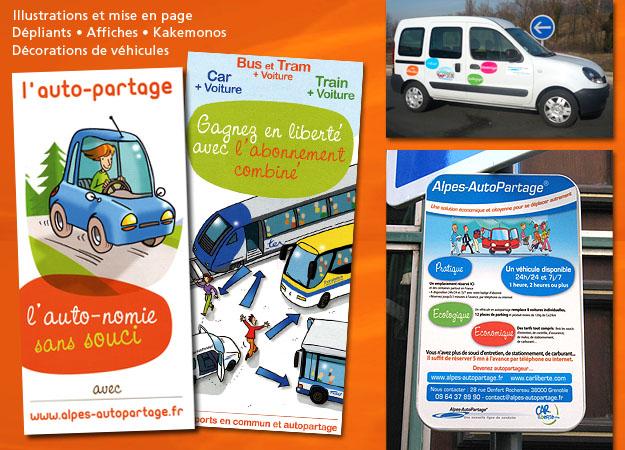 Dépliant Alpes auto partage Grenoble métropole