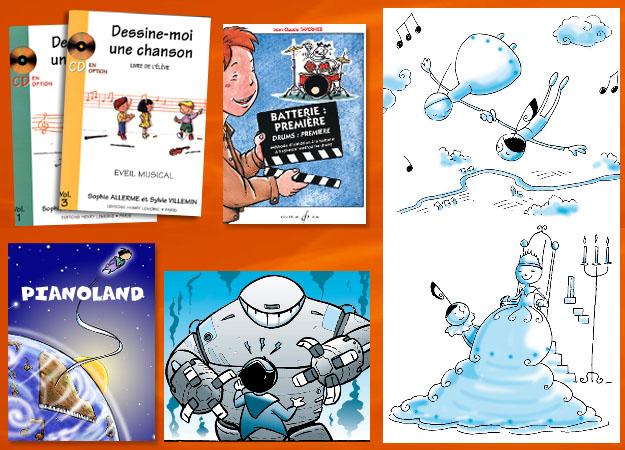 Illustrations pour livre musical