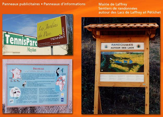 Panneau publicitaire Laffrey